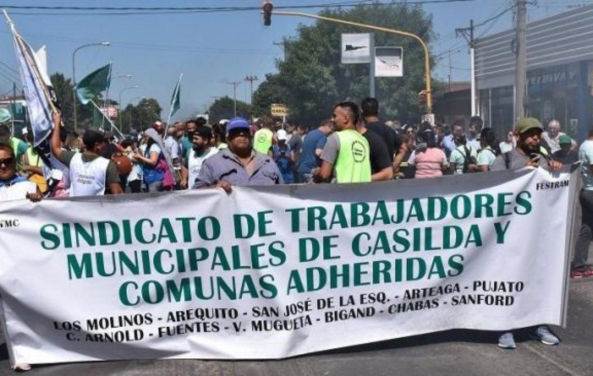 La ruta nacional 33 volvió a arder por los trabajadores municipales de Casilda