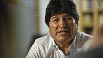 Proscribieron a Evo Morales en Bolivia