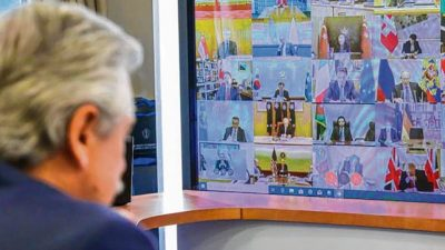 Argentina propone crear un fondo mundial de emergencia
