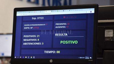 Diputados santafesinos aprobó un endeudamiento por $ 37 mil millones a Perotti para afrontar las emergencias