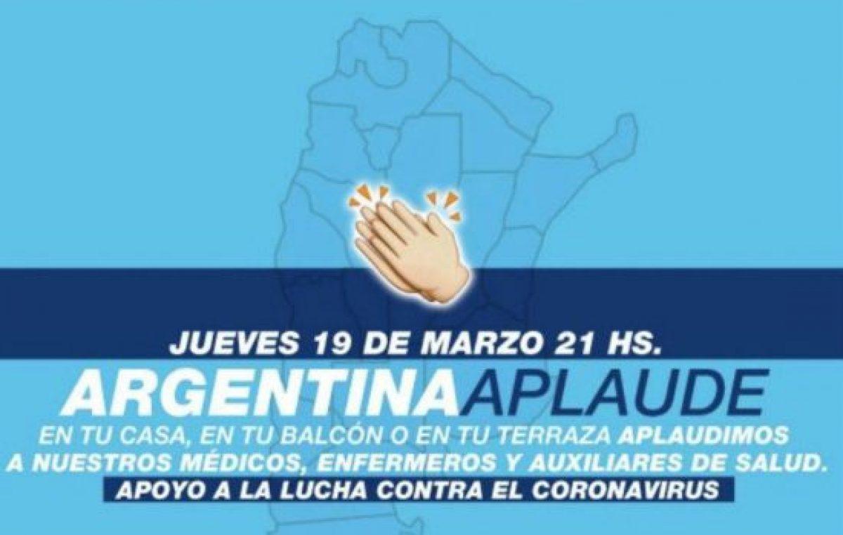 Argentina aplaude: la convocatoria que lanzaron en las redes para apoyar a los profesionales de la salud ante el coronavirus