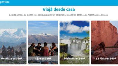 Lanzan plataforma con recorridos 360º de las provincias de Argentina