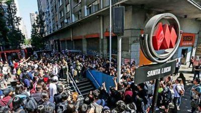 Los estudiantes chilenos coparon el subte