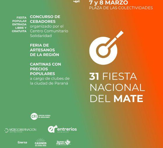 31° Fiesta Nacional del Mate, Paraná, 7 y 8 marzo