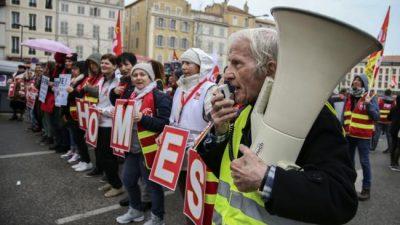 Manifestaciones en Francia contra la reforma jubilatoria de Macron