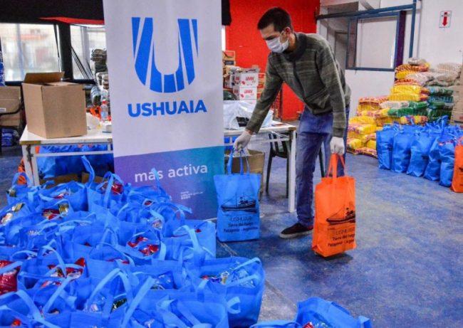 El área social del Municipio de Ushuaia lleva entregados más de 4.500 módulos alimentarios