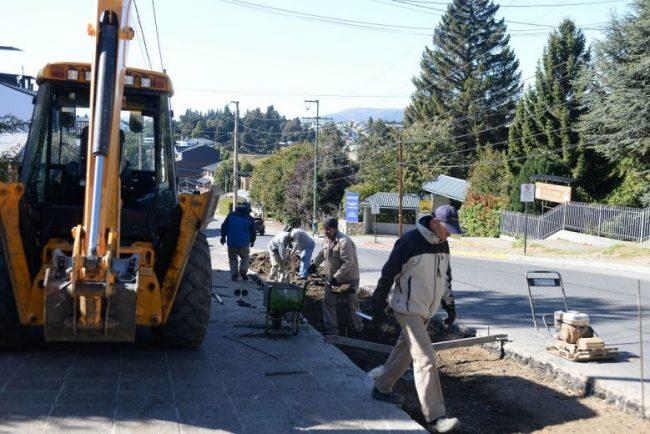La obra pública que sigue en Bariloche a pesar de la cuarentena
