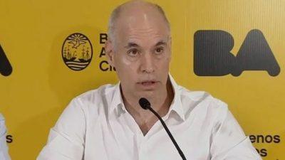 Rodríguez Larreta va por un recorte de salarios en la Ciudad