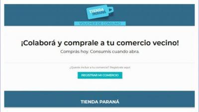 """El Municipio de Paraná lanzó una """"tienda virtual"""" para activar la economía local"""