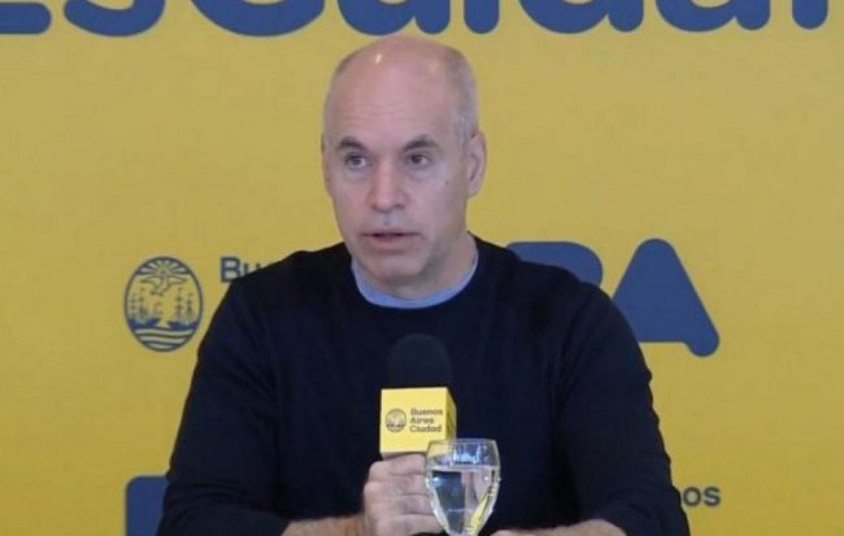 Larreta anunció una rebaja del 25 por ciento del sueldo para funcionarios jerárquicos
