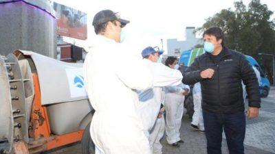 Un aplauso del intendente de Neuquén para los recolectores de residuos