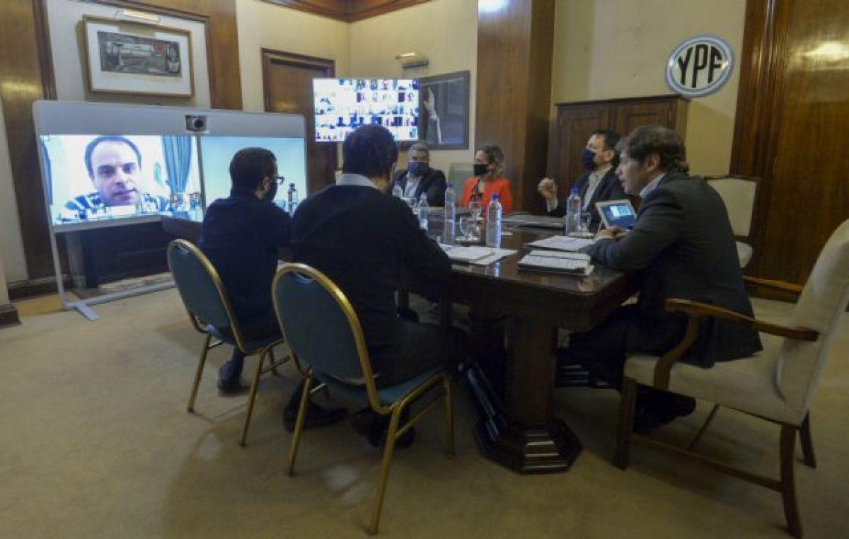 Kicillof anunció una línea de leasing para fortalecer a los 135 municipios frente a la emergencia sanitaria