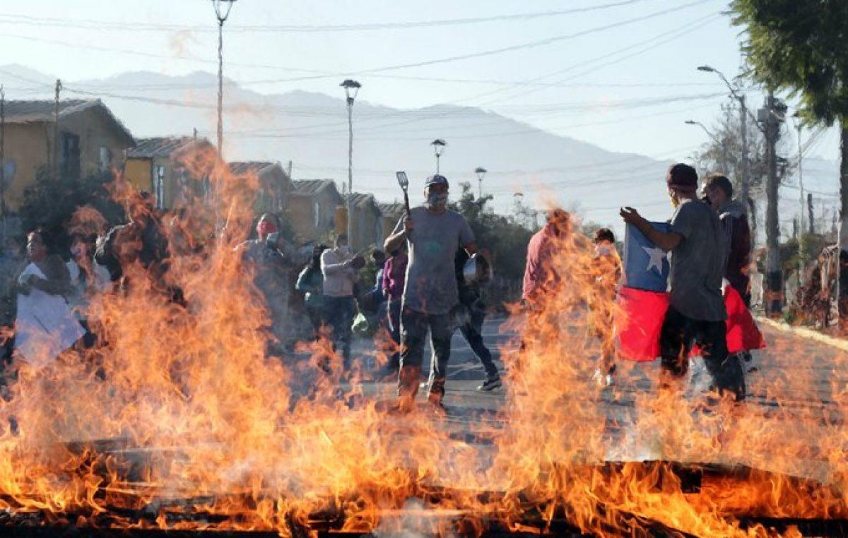 Se repiten las protestas por hambre en el sur de Santiago