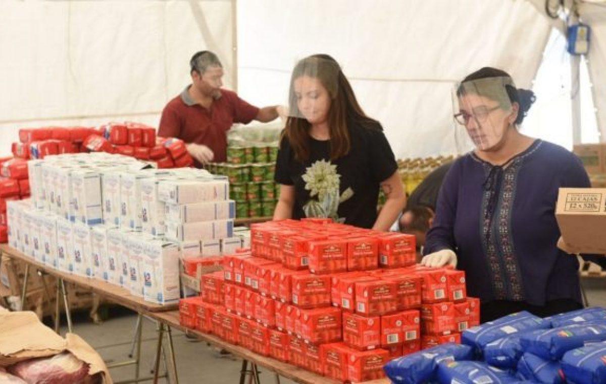Ya se entregaron más de mil toneladas de alimentos en Rosario