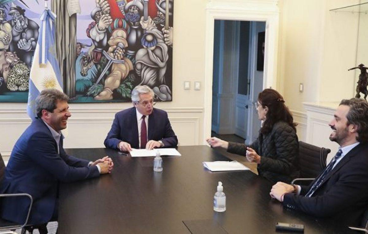Fernández y Uñac firmaron un convenio y San Juan adhiere al programa Argentina Construye