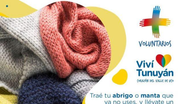 """""""Siembra que abriga"""": la campaña solidaria que lanzó la municipalidad de Tunuyán para quienes necesitan ropa para el invierno"""