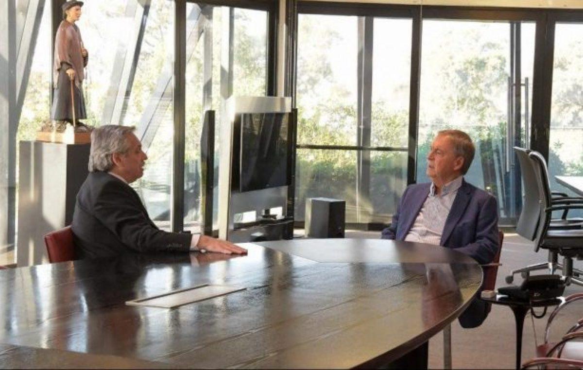 Con fondos, Alberto Fernández aceita la relación con Schiaretti