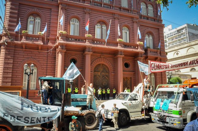Municipales santafesinos resolvieron una Jornada de Protesta de 24 horas