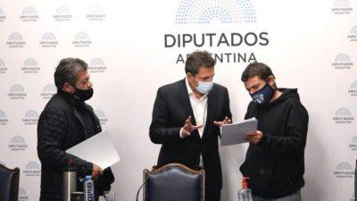 Pospandemia: La CGT y las organizaciones sociales presentaron un programa de desarrollo en Diputados
