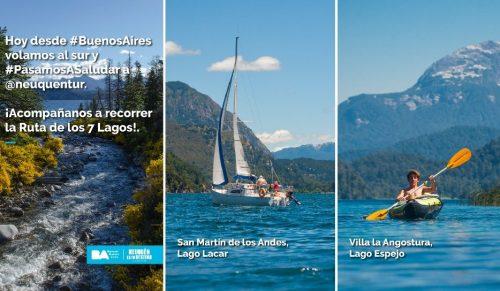 Neuquén se suma a la campaña #PasamosASaludar para promocionar el turismo interno