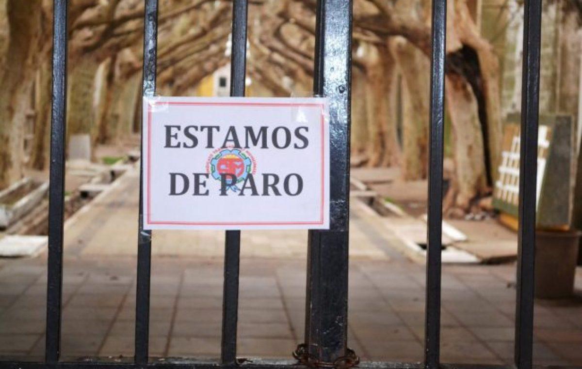 Municipales santafesinos ratifican paro este Martes, Miércoles y Jueves
