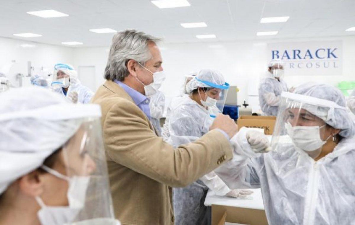"""Argentina ya produce 9 de cada 10 insumos """"esenciales"""" para combatir la COVID"""
