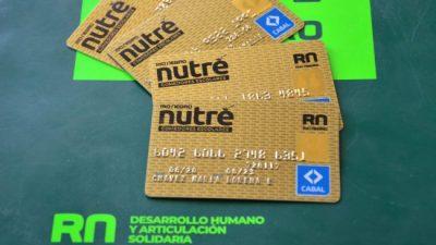 Río Negro ya entrega 14 mil tarjetas alimentarias a alumnos escuelas