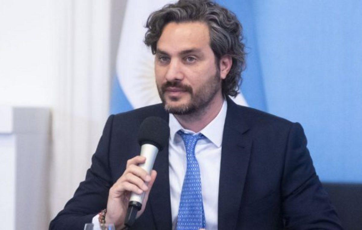 Santiago Cafiero reconoció el cansancio social por la cuarentena pero pidió que «no nos gane el desánimo»
