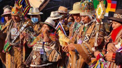 La ceremonia ancestral con la que comenzaron los actos de asunción de Luis Arce