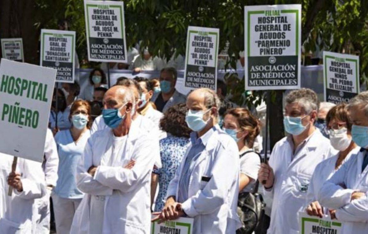 Médicos porteños convocaron a un paro en rechazo a la oferta salarial de Larreta