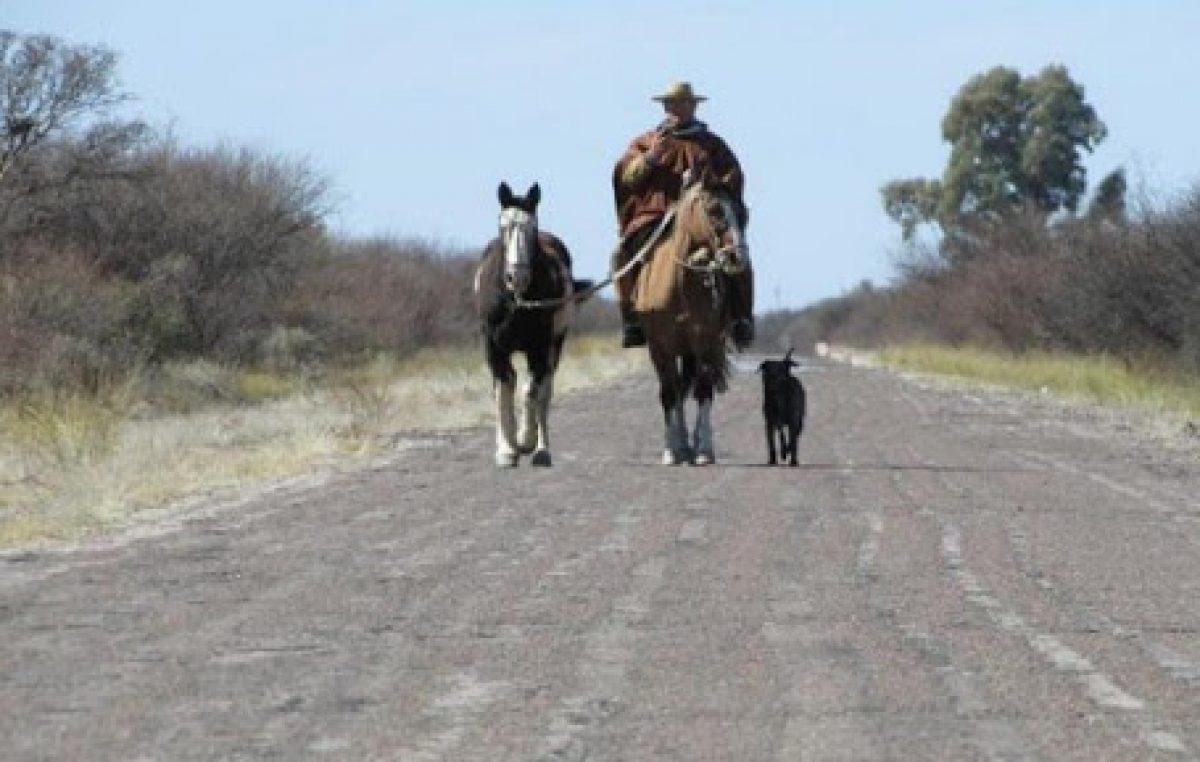 Conocé al gaucho de Pehuajó que cruzó el país a caballo