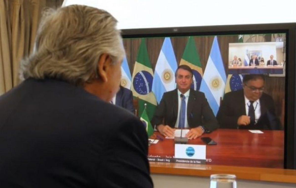 Alberto Fernández en su primera charla con Jair Bolsonaro: «Hay que dejar las diferencias del pasado»