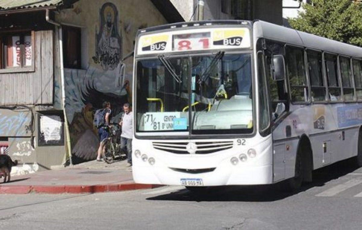El municipio de Bariloche otorgó un aporte de 1.500.000 pesos al transporte público