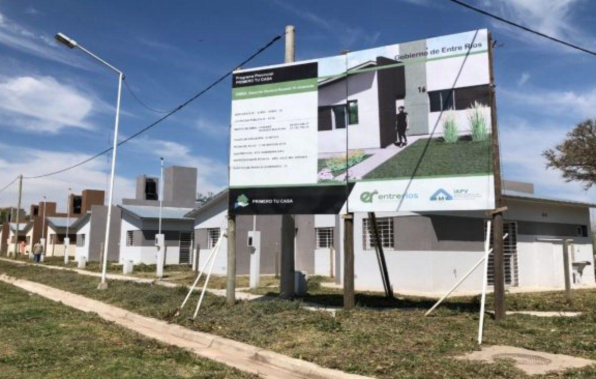 La provincia construirá 65 nuevas viviendas en cinco localidades entrerrianas