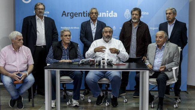 Respaldo sindical para Fernández