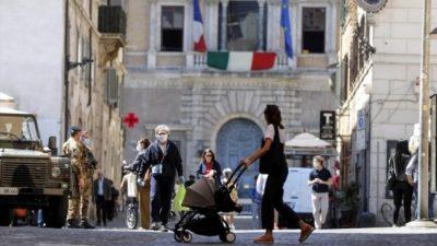 Por la pandemia, la economía italiana cayó 8,8% interanual en 2020