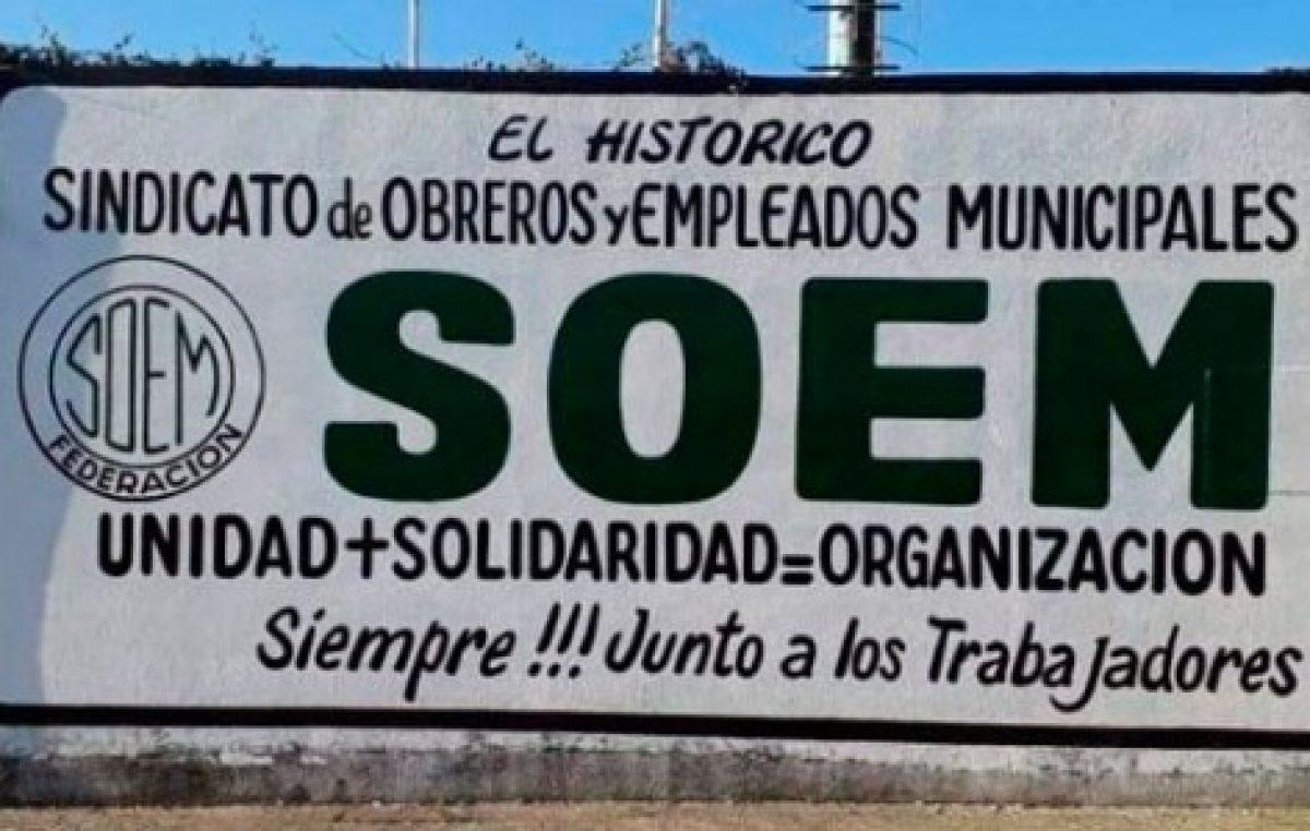 El SOEM logró un aumento del 20 por ciento para los trabajadores municipales de Federación