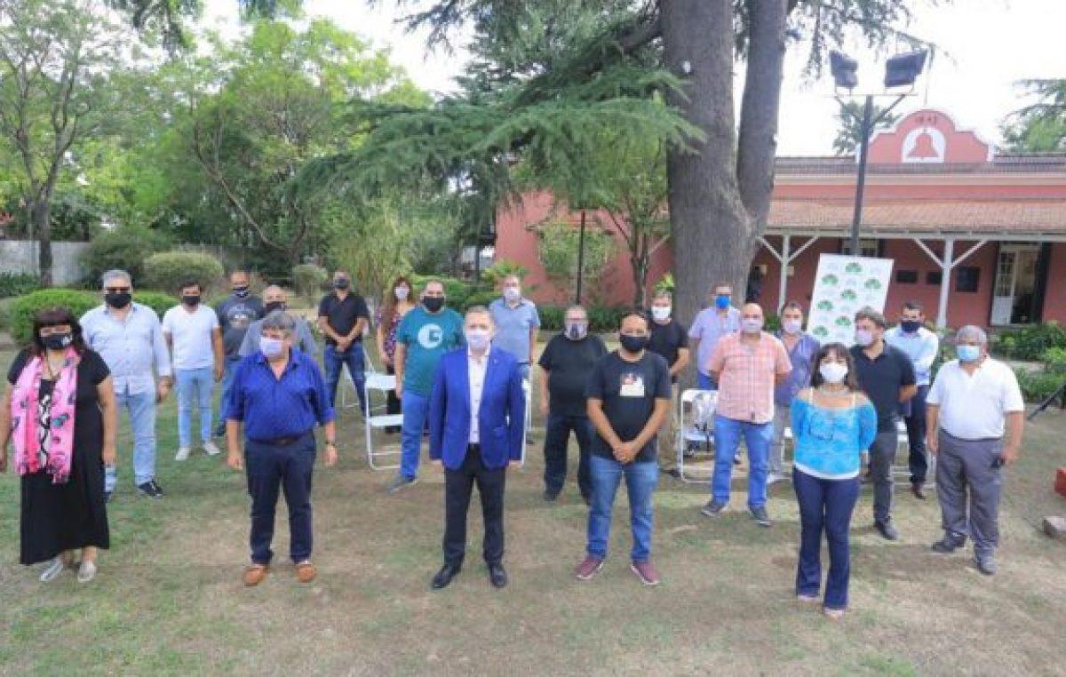 Fernando Gray, con la Federación de Sindicatos Municipales bonaerenses