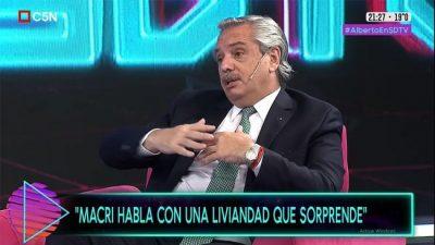 """Fernández: """"Macri debería pedir perdón porque el endeudamiento causó un daño incalculable»"""