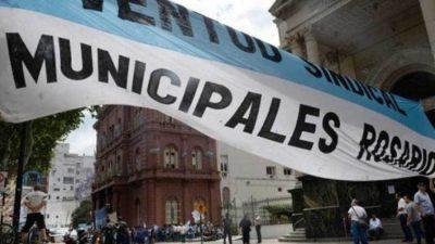Rosario: La primera jornada del paro de municipales tuvo muy alto acatamiento