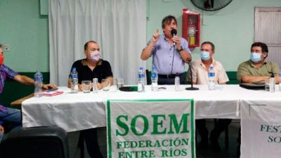 La Festram Entre Ríos recibió un fuerte respaldo del titular de la CTM durante el plenario de Federación