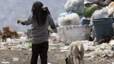 Más de 8,3 millones de niños viven en la pobreza en la Argentina