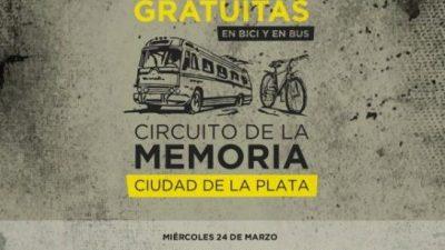 La Plata: Lanzan el tour guiado Circuito de la Memoria, para hacer en bus y bicicleta