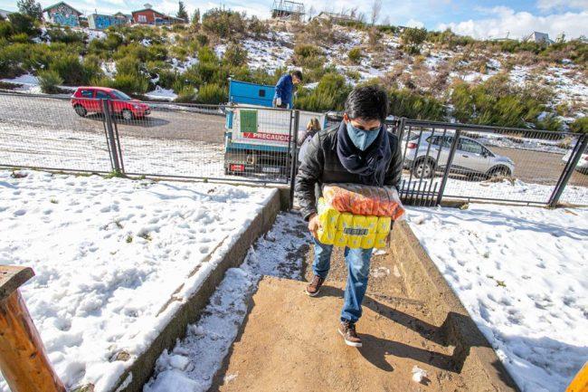 "Módulos alimentarios en Bariloche: ""Pasamos de entregar 400 o 500 al mes a entregar 20.000"""