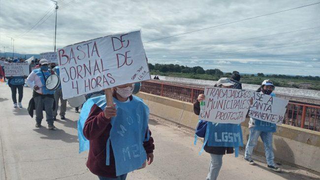 Municipales jujeños del interior movilizan hasta capital por salarios dignos