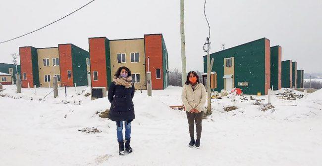 La construcción de las 55 viviendas en Tolhuin entra en su etapa final