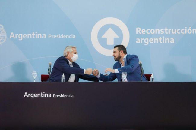 Alberto Fernández y el intendente Walter Vuoto lanzaron Conectar Igualdad Ushuaia