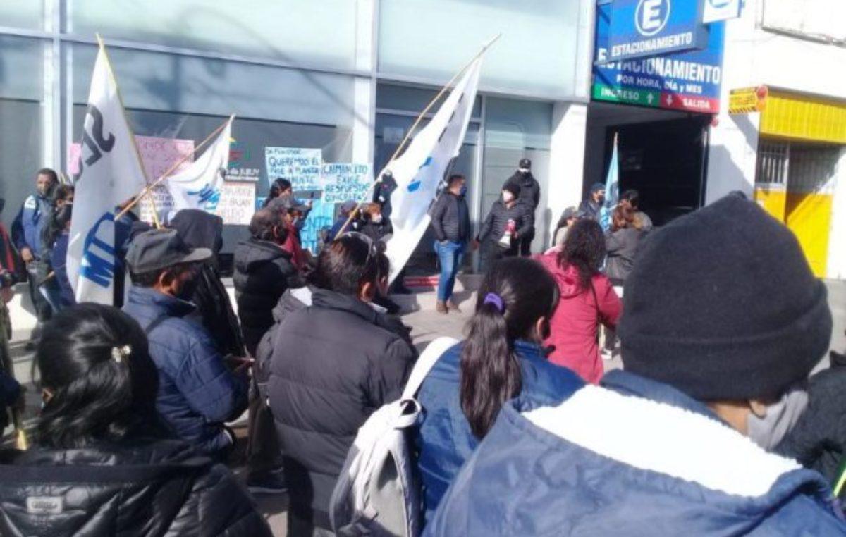 Municipales jujeños se plantaron en el Ministerio de Trabajo para exigir paritarias