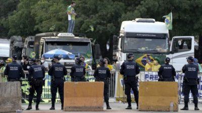 El líder de los camioneros bolsonaristas denunció persecución y pidió asilo en México