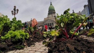 La UTT acampa en el Congreso en reclamo de una Ley de Acceso a la Tierra